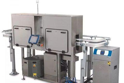 嘉士伯啤酒易拉罐线使用激光喷码机技术,轻松赋码10万/小时!